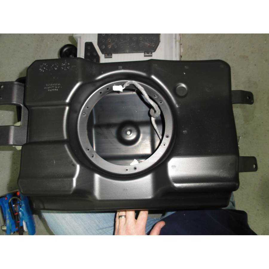2011 Dodge Durango Under cargo floor speaker removed