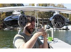 Tips for installing tower speakers on a boat
