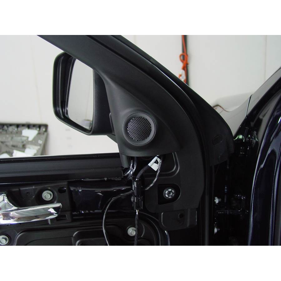 2012 Jeep Grand Cherokee Front door tweeter location