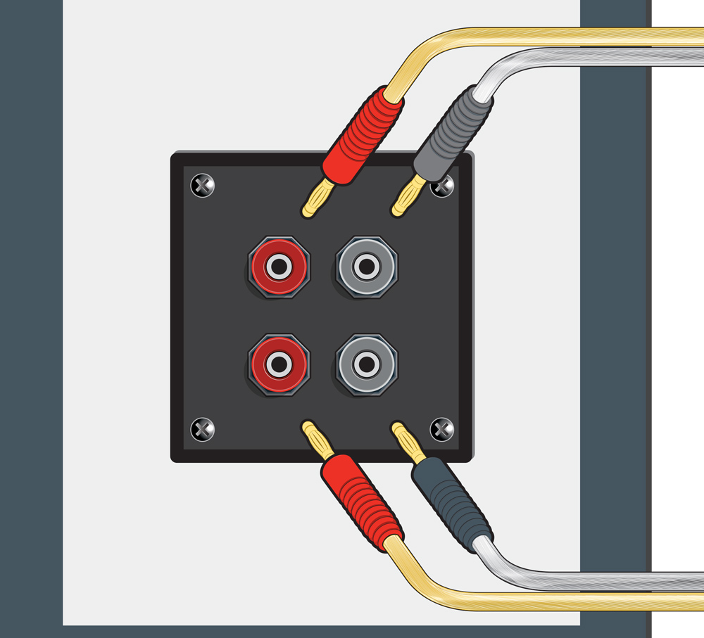 Home A V Connections Glossary Coaxial Speaker Subwoofer Wiring Diagram Cable And Bi Amping