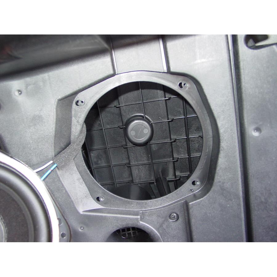 2014 Subaru Tribeca Far-rear side speaker removed