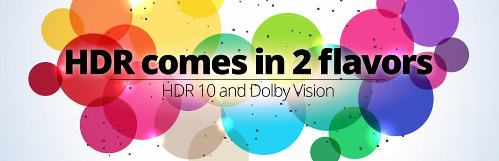 HDR 10 and Dolby Vision Graphic