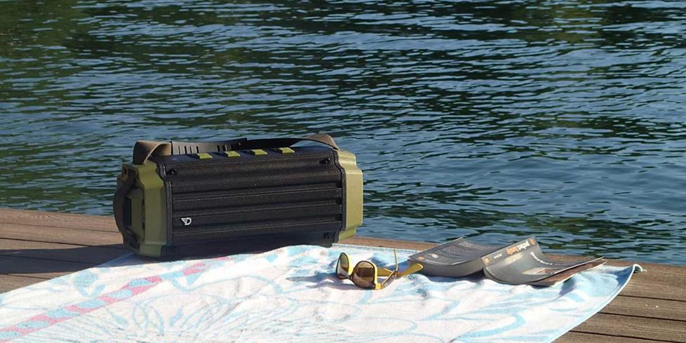 Dreamwave Tremor on a dock on a lake