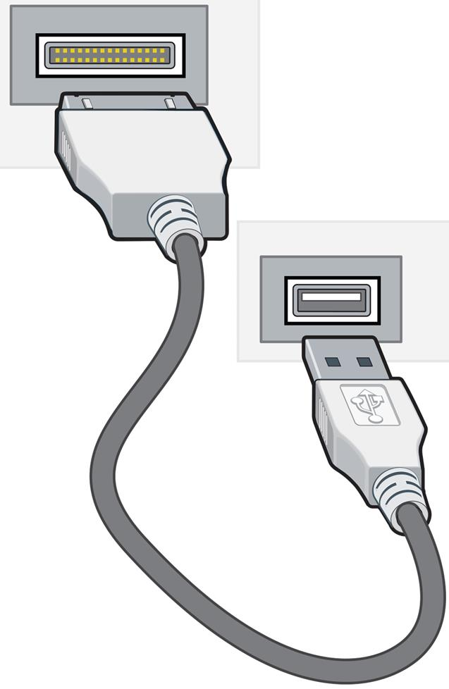 30-pin to USB cable