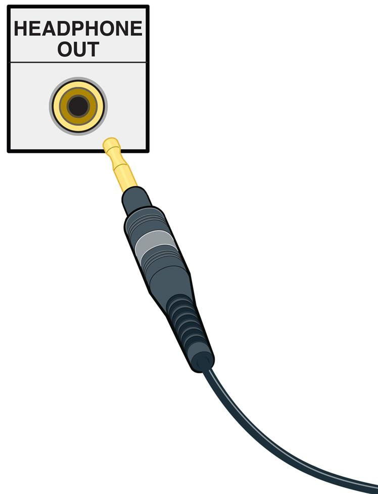 "Headphone connections (1/4"" and 1/8"")"