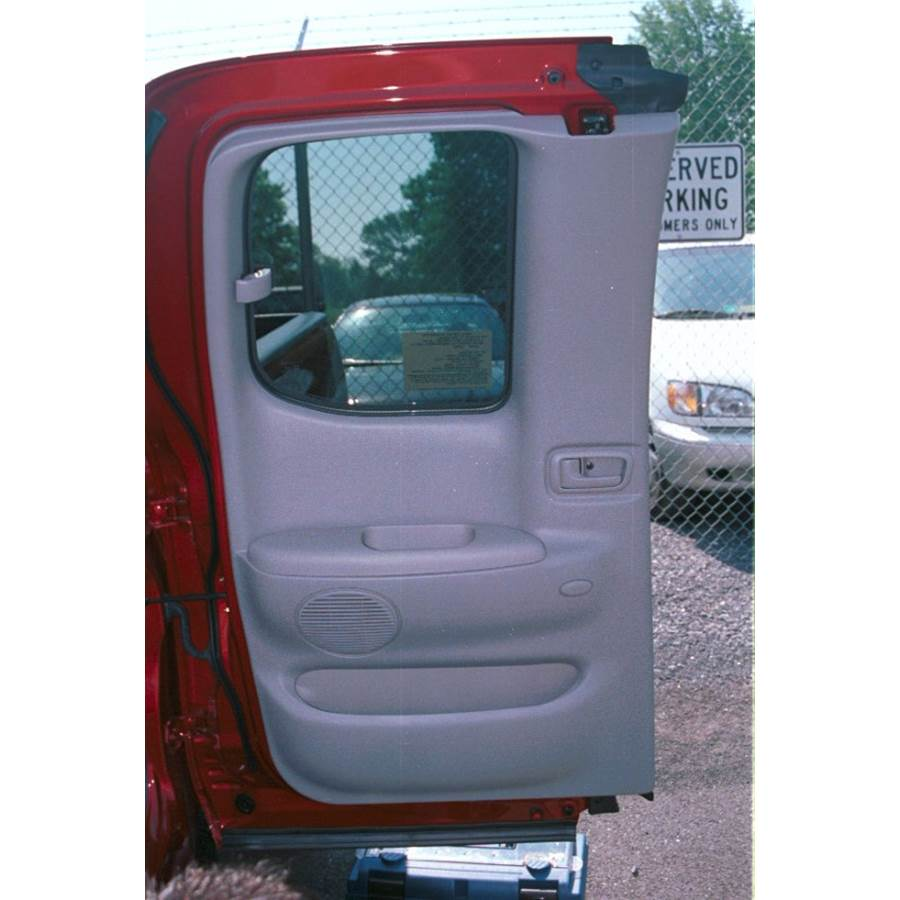 2003 Toyota Tundra Rear door speaker location