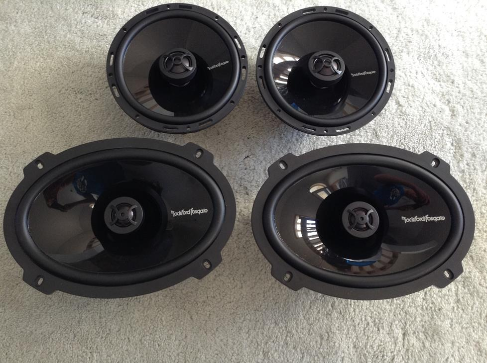 Rockford Fosgate Punch P1692 and P16 speakers