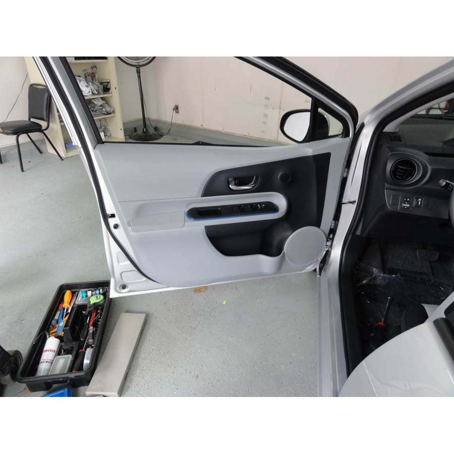 2017 Toyota Prius C Front door speaker location