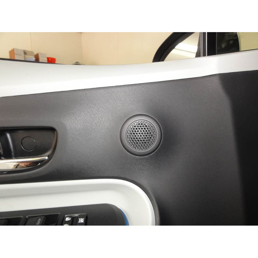 2017 Toyota Prius C Front door tweeter location