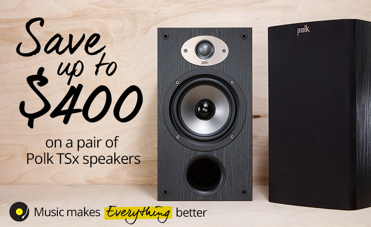 Save up to $400 on a pair of Polk TSx speakers