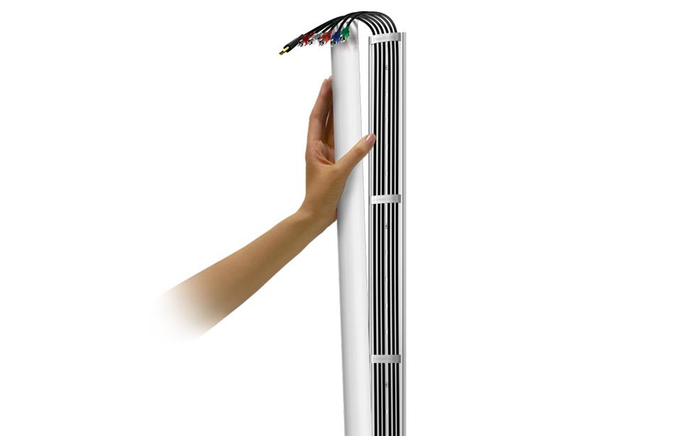 Tips for home a v cable management for Attach wire to wall
