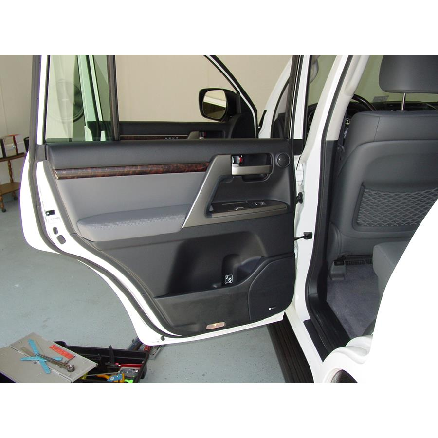 2011 Toyota Land Cruiser Rear door speaker location