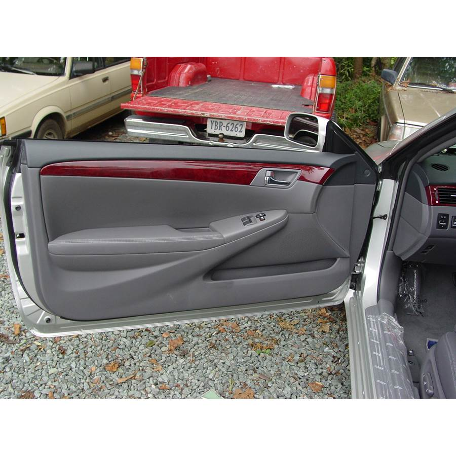 2005 Toyota Camry Solara Front door speaker location