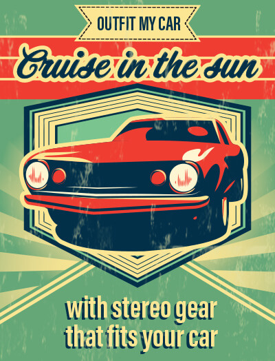 Cruise in the sun with stereo gear that fits your car