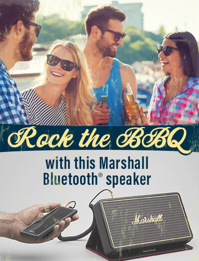 Rock the BBQ with this stylish Bluetooth speaker