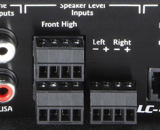 The AudioControl LC-4.800 speaker-level inputs