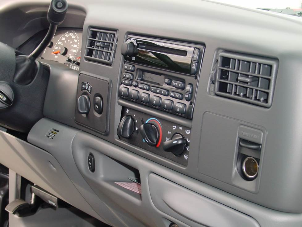 ford F-350 radio dash