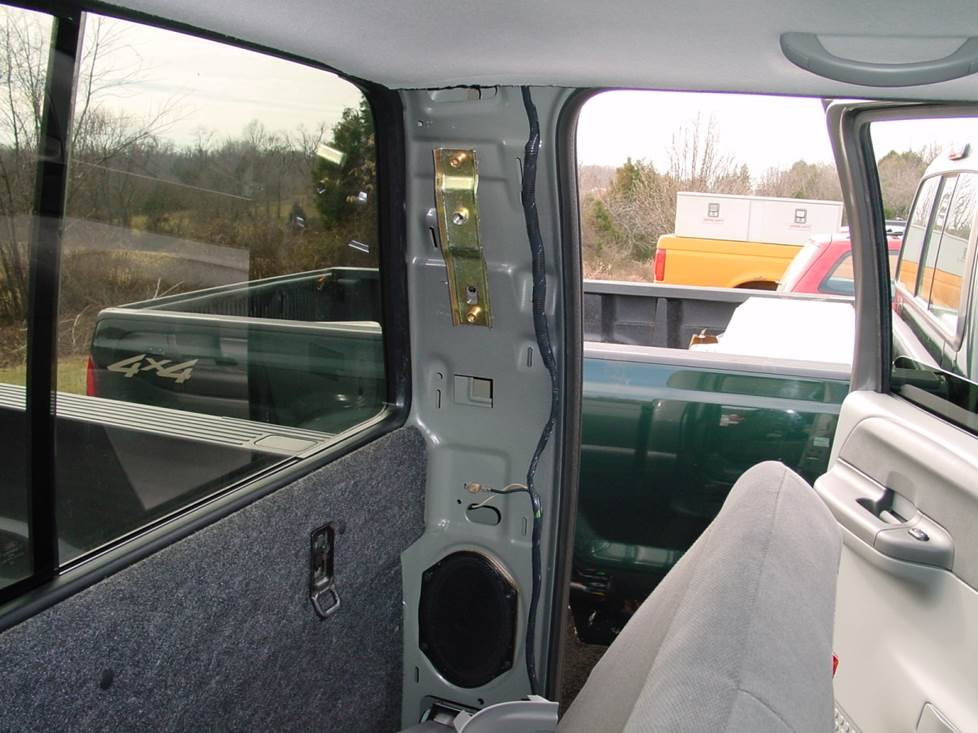 ford f-350 f-250 club cab rear door speaker