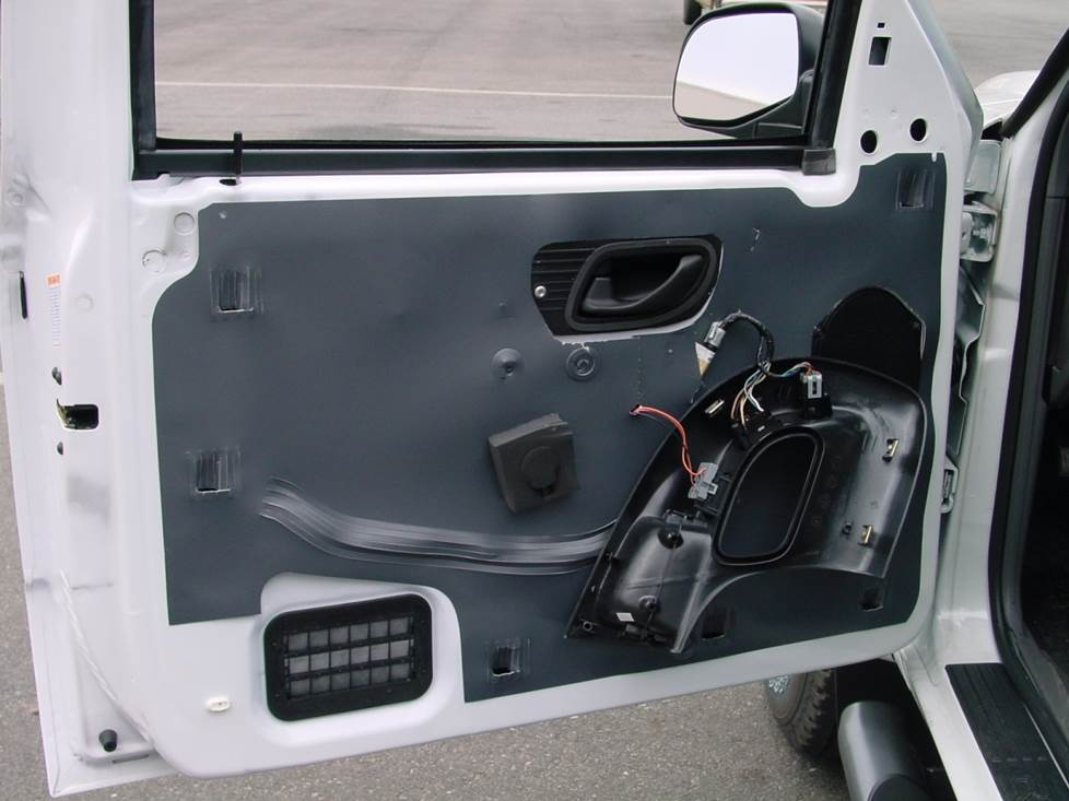 ford ranger front door speaker location