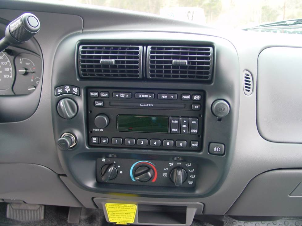 ford ranger radio