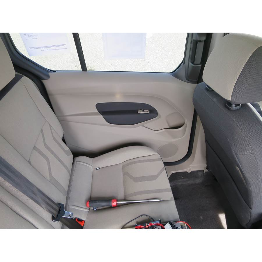 2014 Ford Transit Connect Rear door speaker location