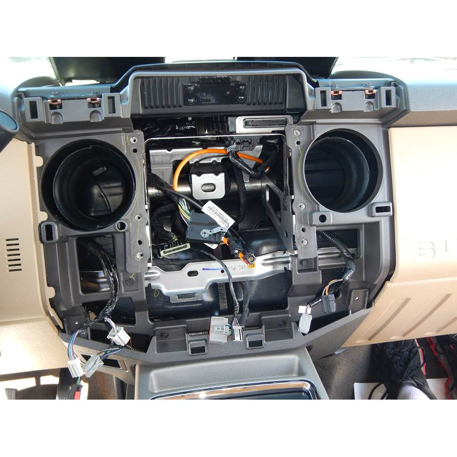 2016 Ford F-450 Factory radio removed