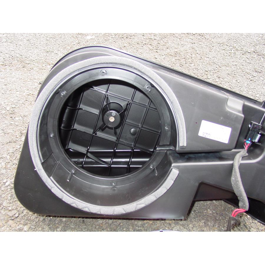 2011 Chevrolet Equinox Far-rear side speaker removed