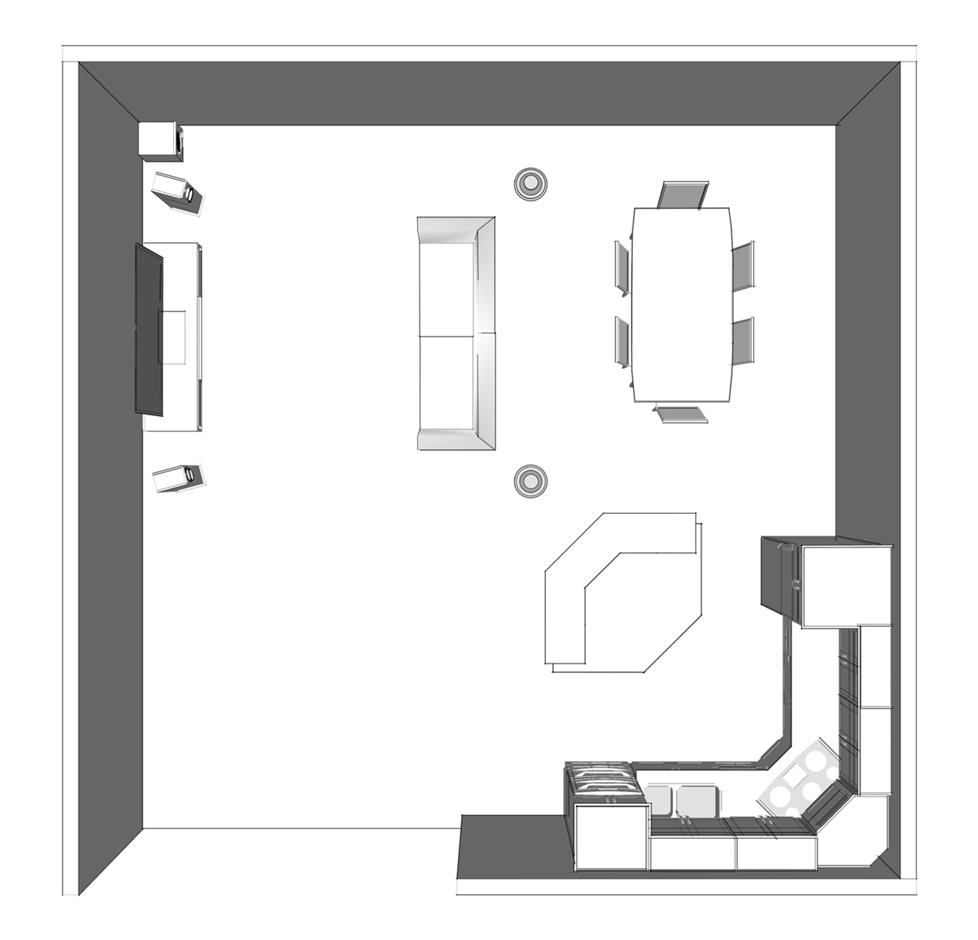 speaker placement for home theater open floor plan