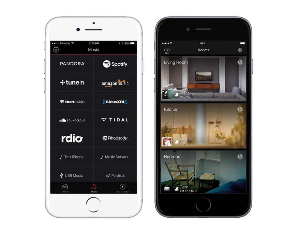App control for multi-room music
