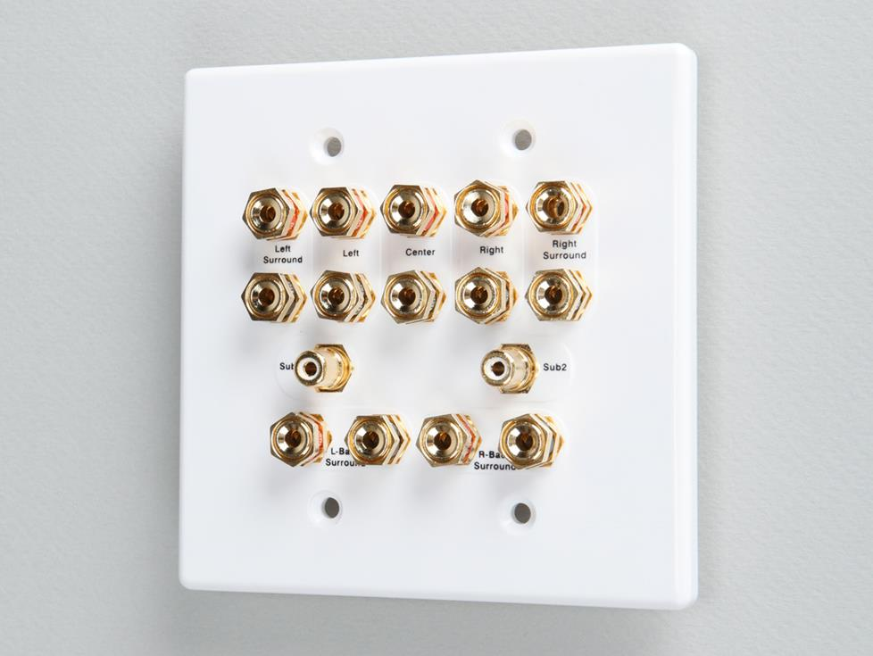 wall plate for home theater connections