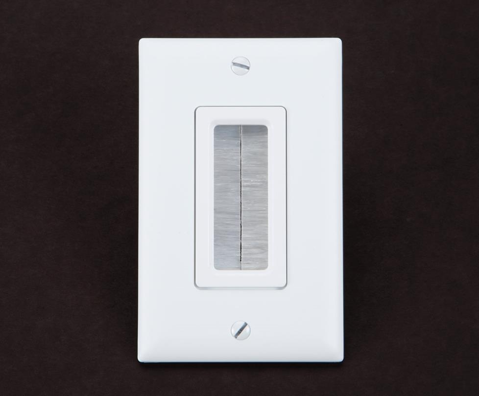 In Wall Wiring Guide For Home A V Through Outside Universal Plate