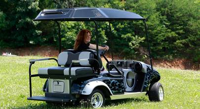 Custom-fit golf cart stereo systems