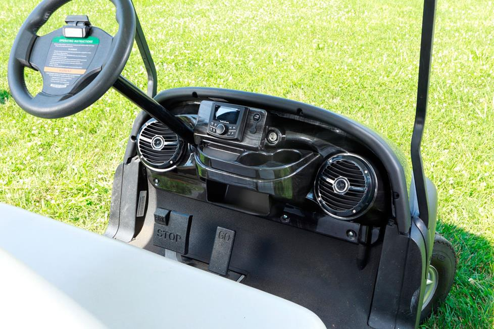 Custom-fit Golf Cart Stereo Systems for Select Club Car and E-Z-Go on ezgo golf cart headlight switch, ezgo golf cart fuse box, ezgo golf cart power, ezgo golf cart chargers, ezgo golf cart battery cables, ezgo golf cart lights, ezgo golf cart lift kits, ezgo golf cart governor, ezgo golf cart seats, ezgo golf cart carburetor, ezgo golf cart roof, ezgo golf cart spindle, ezgo golf cart cylinder head, ezgo golf cart roll bar, ezgo golf cart covers, ezgo golf cart blue, ezgo golf cart enclosures, ezgo gas golf cart, ezgo golf cart controllers, ezgo golf cart spacers,