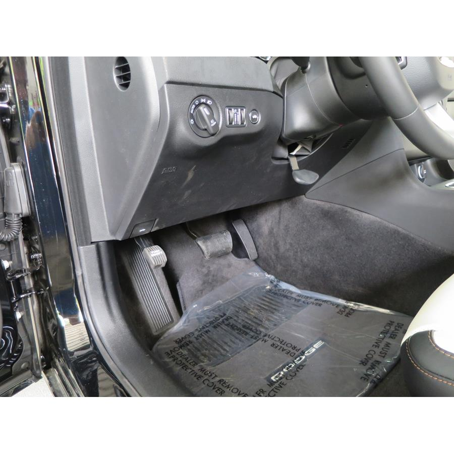 2018 Dodge Charger Factory amplifier location
