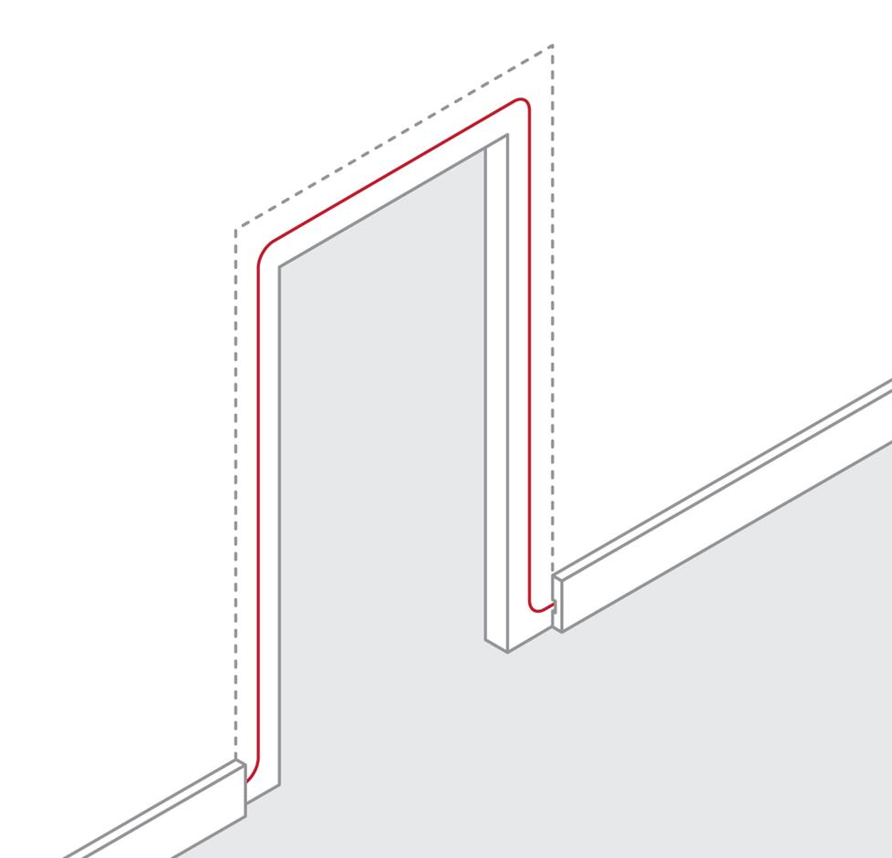 How to route wire around a door frame