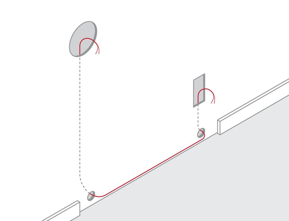 How to route wire along a baseboard