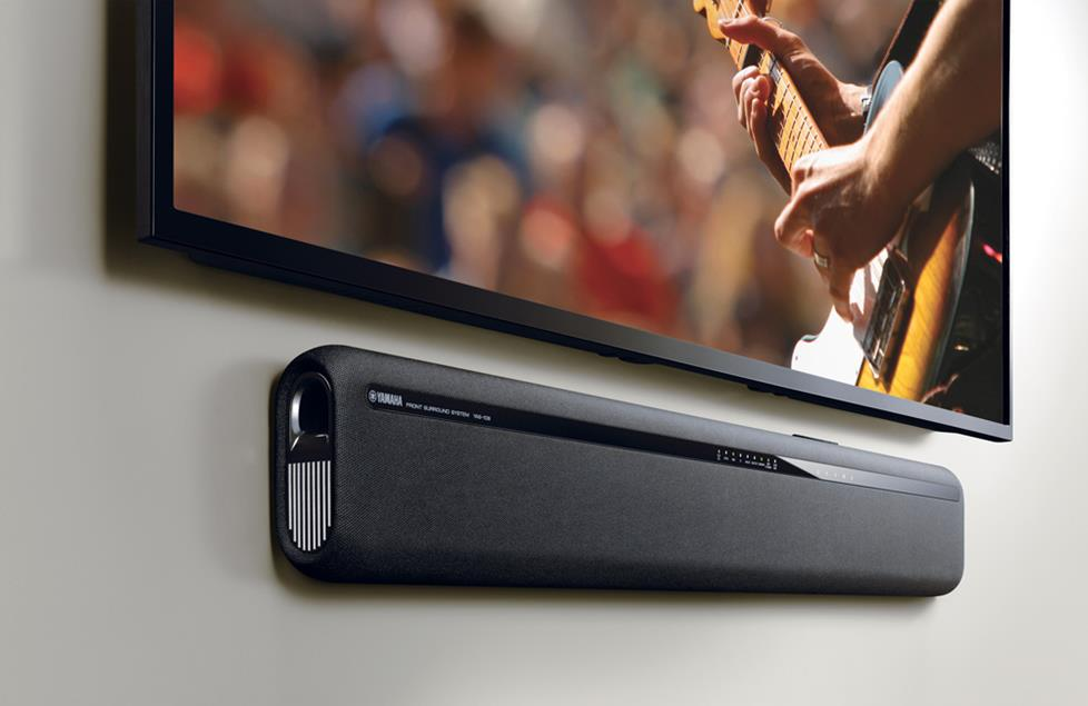 A sound bar brings TV sound to life