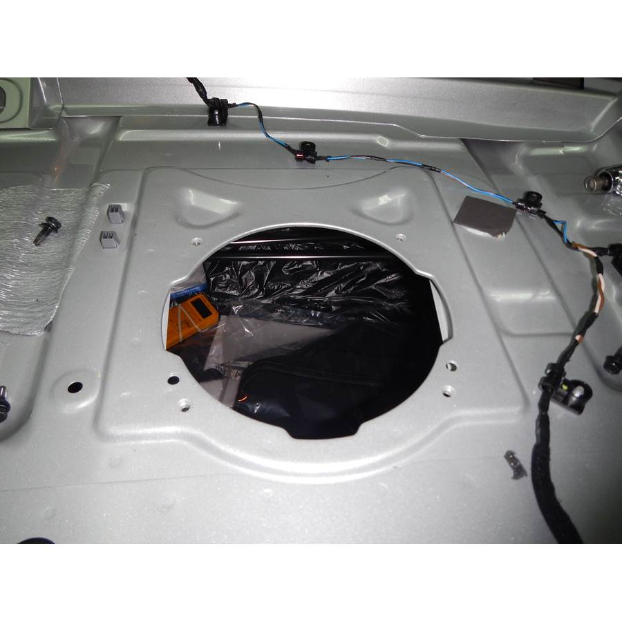 2015 Hyundai Sonata ECO Rear deck center speaker removed