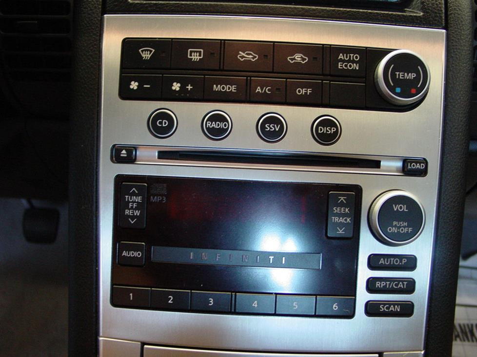 Infiniti G35 Coupe radio