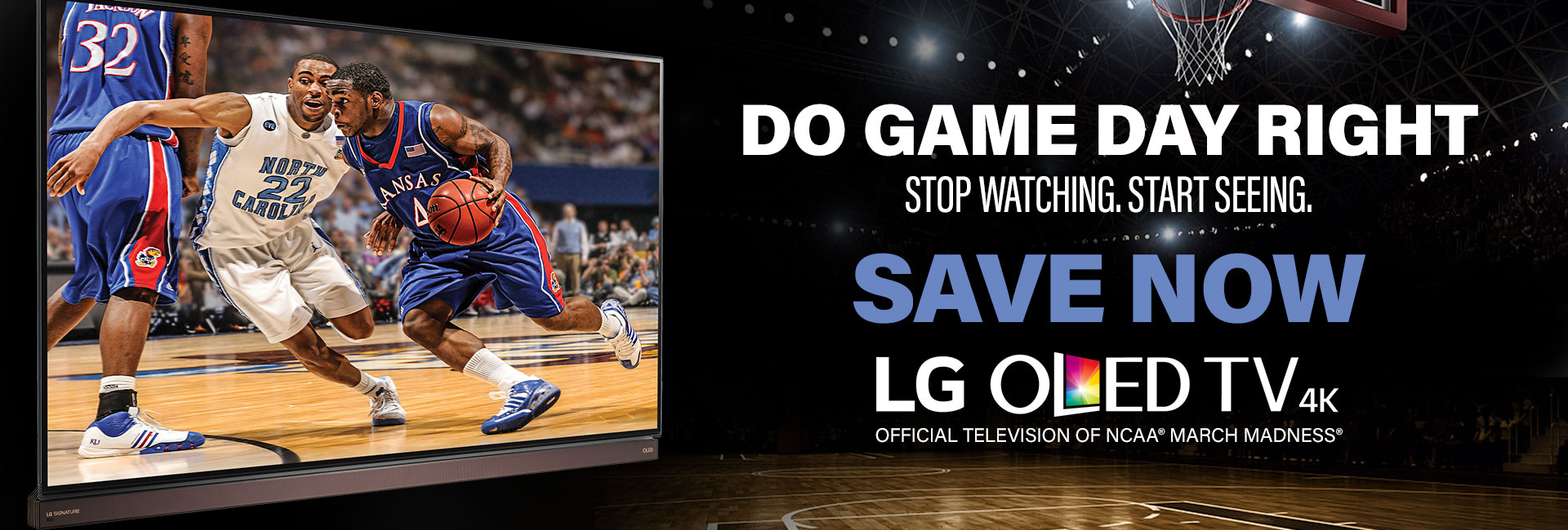 Do game day right. Save now on an LG OLED 4K TV
