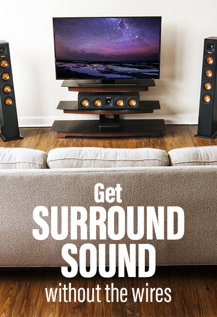 Get surround sound without the wires