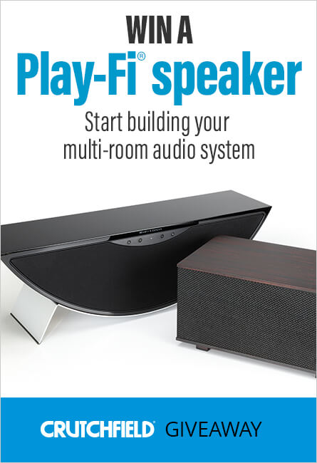 Crutchfield Giveaway — Win a Play-Fi® speaker