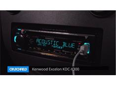 Demo of the Kenwood Excelon KDC-X300 CD receiver