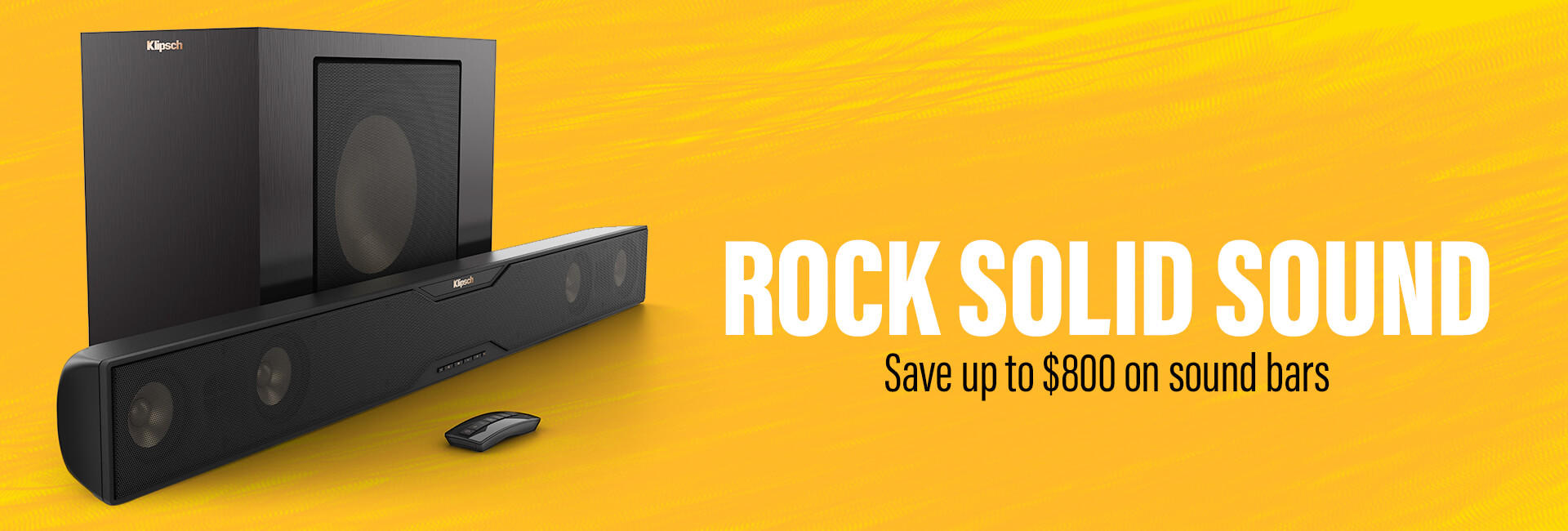 Save up to $800 on sound bars