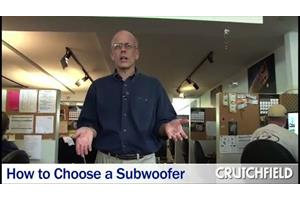 Crutchfield subwoofers enclosures car learning center learn