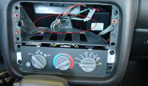 1995 Pontiac Firebird You'll have to modify your vehicle's sub-dash to install a new car stereo.