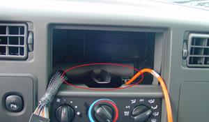 2003 Ford F-350 You'll have to modify your vehicle's sub-dash to install a new car stereo.