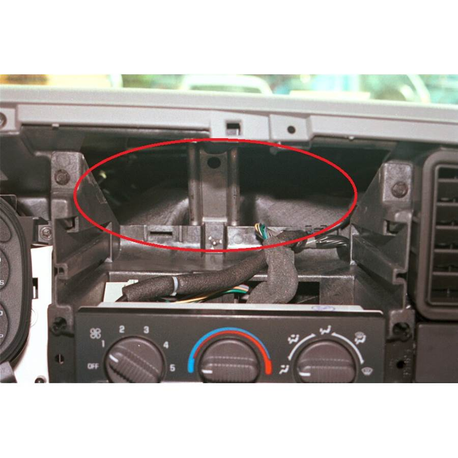 2002 GMC Sierra 2500/3500 You'll have to modify your vehicle's sub-dash to install a new car stereo.