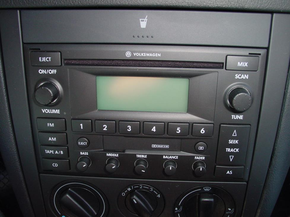 vw golf gti radio