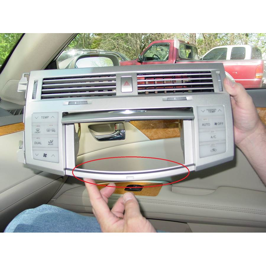 2005 Toyota Avalon You'll have to modify your vehicle's sub-dash to install a new car stereo.